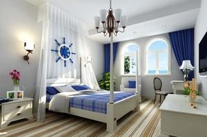 大户型精致地中海风格卧室背景墙装修效果图