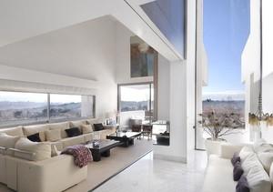 120平米大户型现代简约客厅室内装修效果图