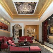 90平米欧式客厅电视背景墙装修效果图鉴赏