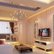 2016舒适温馨的大户型简欧风格客厅装修效果图