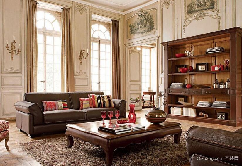 复古风格别墅型客厅装修效果图