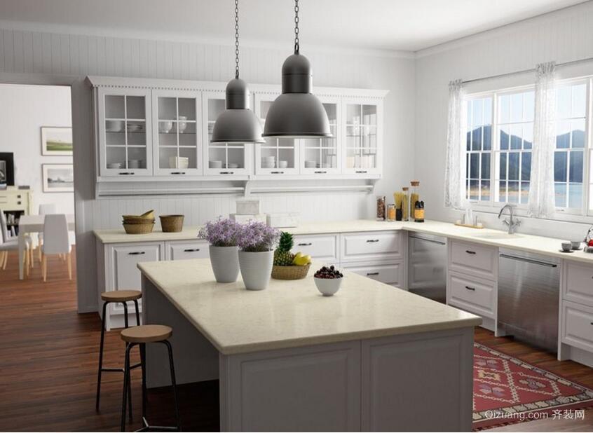 100平米简欧风格厨房装修效果图实例