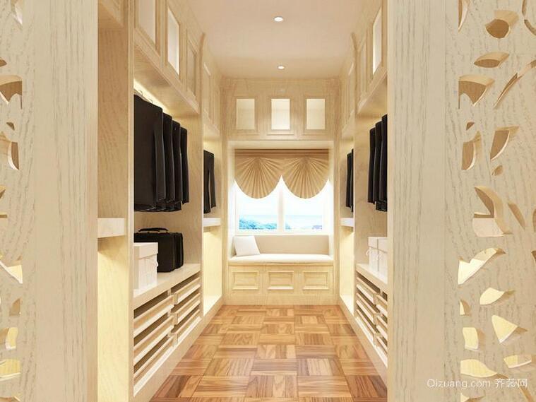 现代别墅室内欧式整体衣柜装修效果图