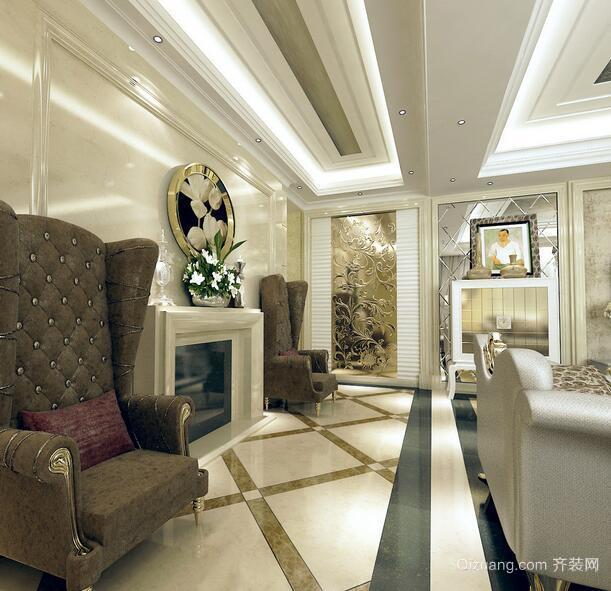 欧式经典的别墅型室内玄关装修效果图