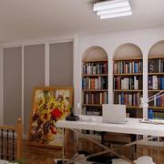 现代欧式唯美大户型书房装修效果图鉴赏