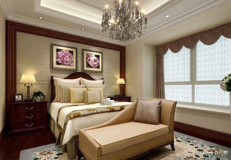 欧式现代大户型卧室背景墙装修效果图鉴赏