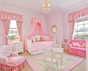 现代欧式精美的欧式大户型儿童房装修效果图