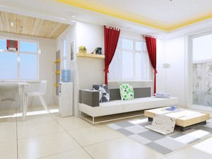 2016欧式风格小户型客厅背景墙装修效果图