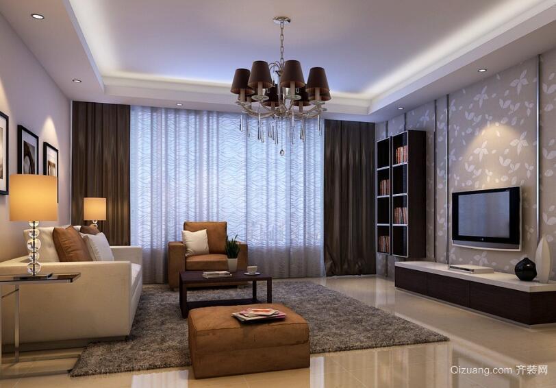 现代经典的欧式大户型客厅装修效果图实例