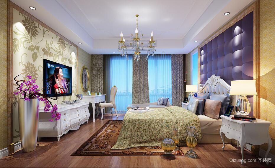 100平米大户型简欧风格卧室装修效果图