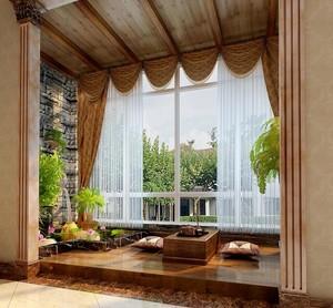 90平米大户型欧式现代阳台装修效果图鉴赏