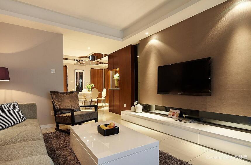 70平米小户型欧式客厅背景墙装修效果图