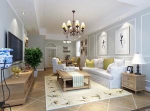 现代别墅型北欧风格客厅装修效果图鉴赏