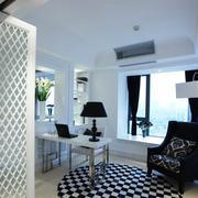 90平米大户型欧式室内飘窗装修效果图