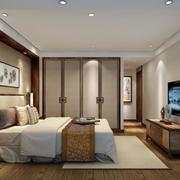 100平米精致的舒适中式卧室装修效果图