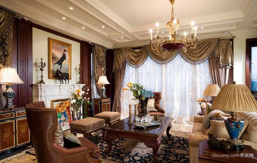 美式装修风格样板房客厅装修效果图鉴赏