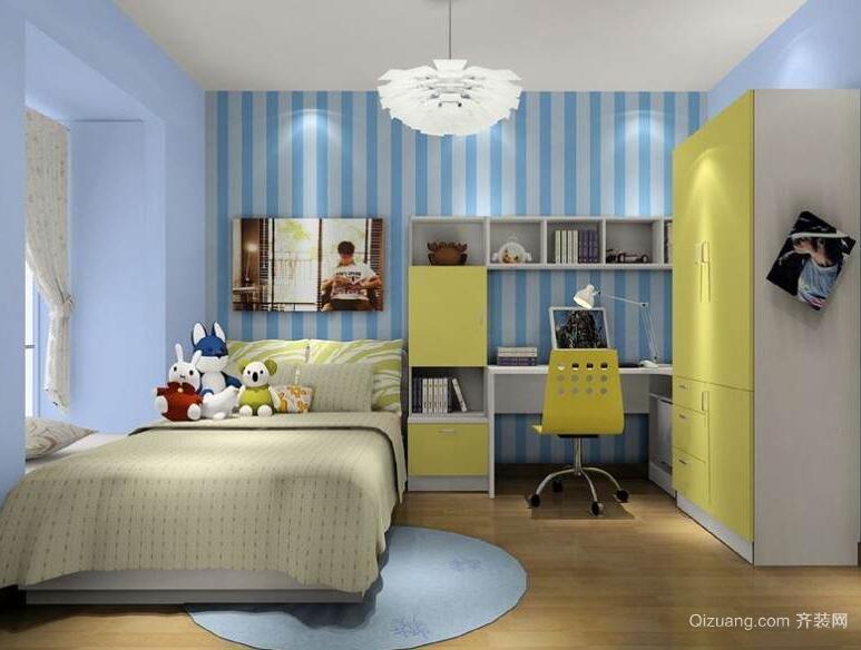 小户型现代经典儿童房装修效果图实例
