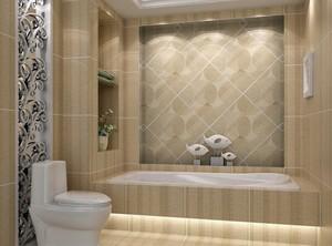 现代欧式大户型卫生间背景墙装修效果图鉴赏