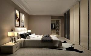 大户型现代简约卧室背景墙装修效果图
