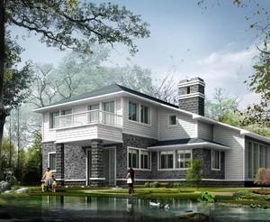 2016精致的现代农村别墅外观效果图