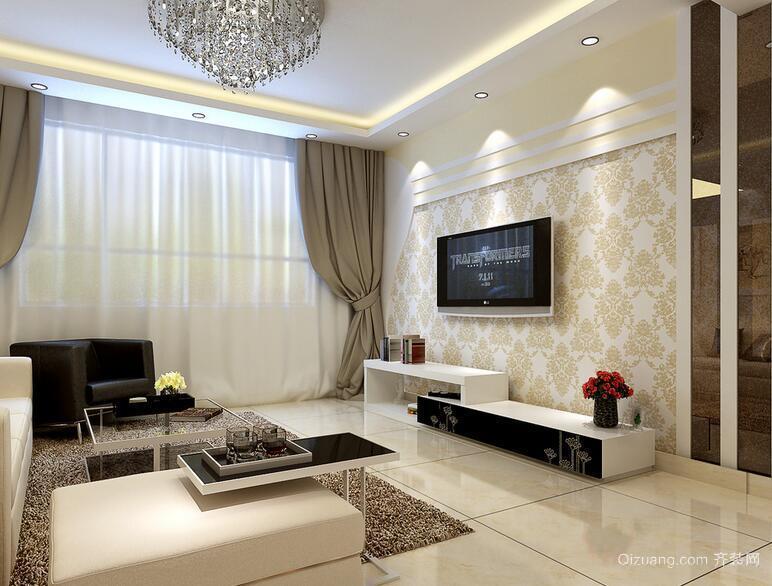 别墅型简欧客厅电视背景墙装修效果图鉴赏
