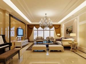 自建别墅欧式客厅装修效果图欣赏
