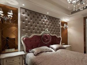 欧式别墅卧室软包背景墙装修效果图鉴赏