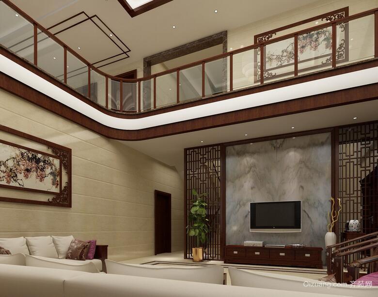 100平米大户型精致欧式别墅吊顶装修效果图