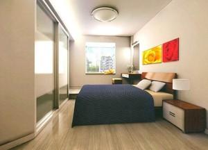 欧式风格单身公寓卧室背景墙装修效果图