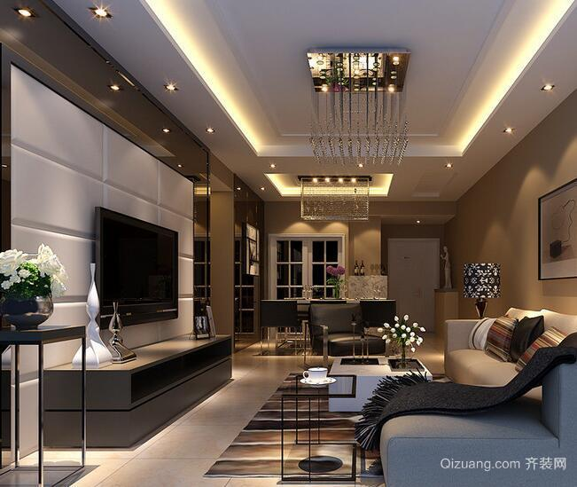 2016极美精致的大户型欧式客厅装修效果图