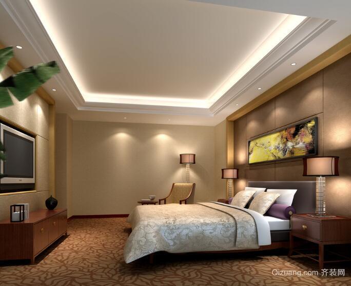 经典舒适的别墅型欧式卧室装修效果图