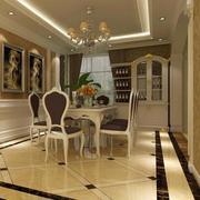 90平米欧式风格时尚的餐厅装修效果图
