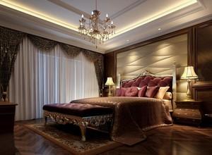 100平米大户型欧式卧室背景墙装修效果图