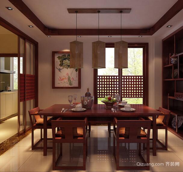 现代中式风格大户型餐厅装修效果图
