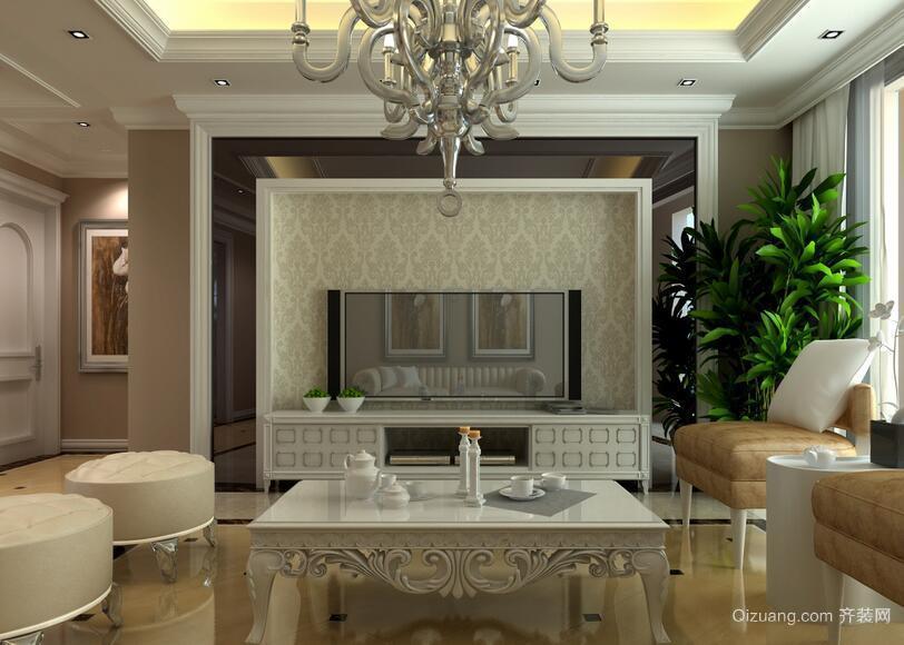 单身公寓欧式风格电视背景墙装修效果图