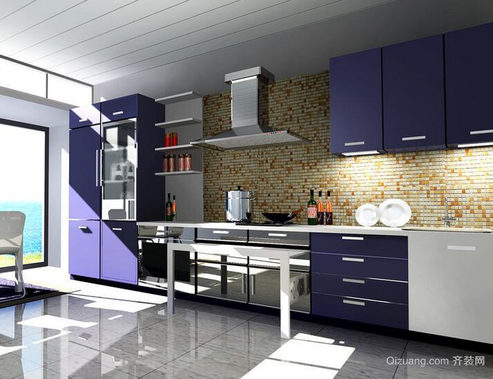 2016别墅欧式风格厨房吊顶装修效果图