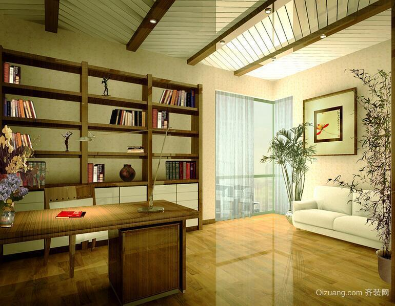 现代精致的大户型都市书房装修效果图鉴赏