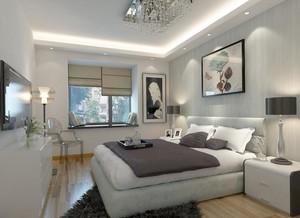 2016别墅型现代简约卧室背景墙装修效果图