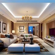 现代时尚的小户型欧式客厅装修效果图
