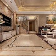 大户型经典的简欧风格客厅装修效果图