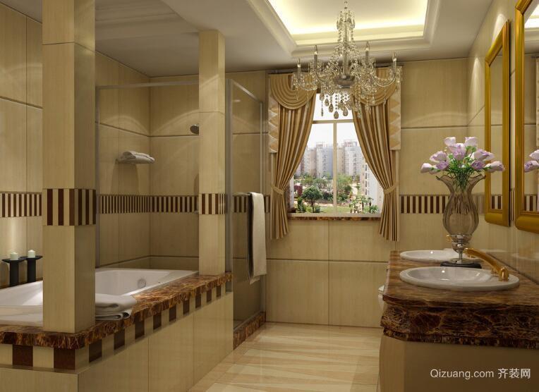 自建别墅现代精致的欧式卫生间装修效果图