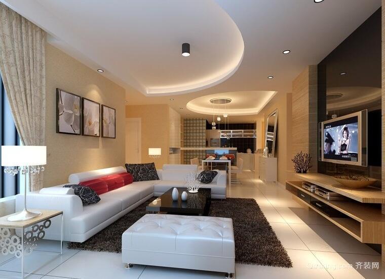 小户型现代欧式室内吊顶装修效果图实例