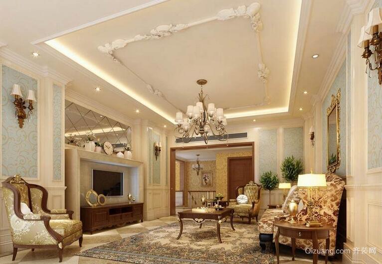 2016精美的大户型欧式客厅装修效果图欣赏