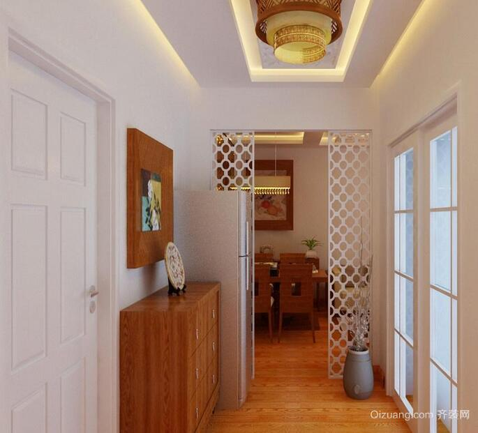 中式风格唯美的别墅型玄关装修效果图