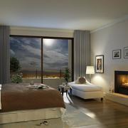 90平米大户型欧式卧室设计装修效果图鉴赏