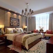 100平米大户型精致的中式卧室装修效果图