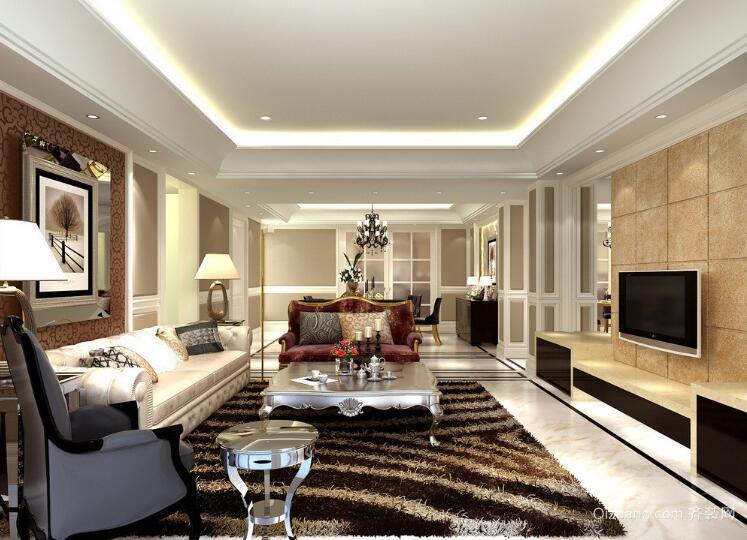 2016别墅型经典欧式客厅装修效果图