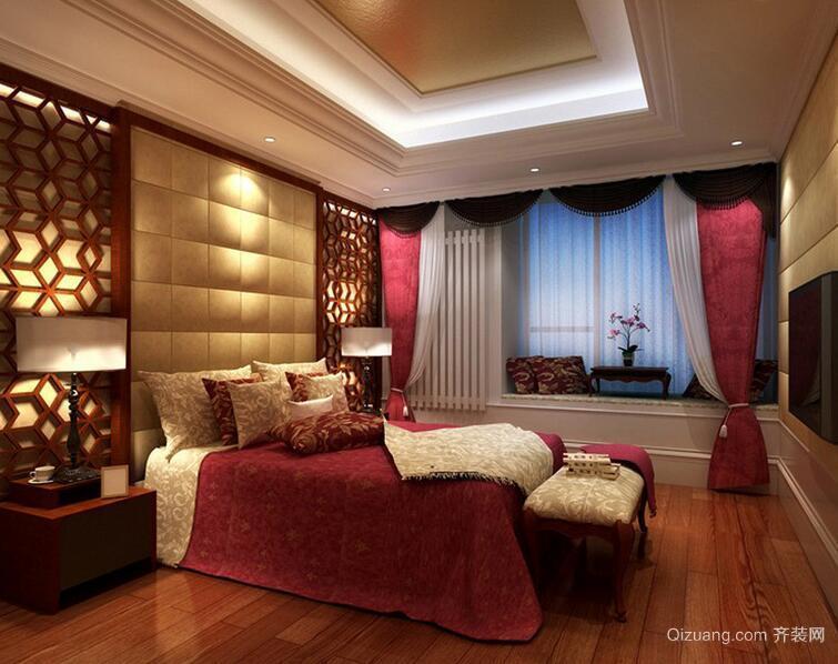 三居室现代欧式风格卧室装修效果图鉴赏