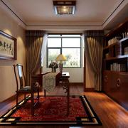 现代精致的90平米中式书房装修效果图