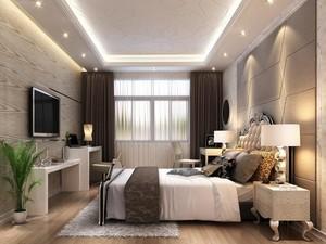 2016大户型简欧风格卧室吊顶装修效果图